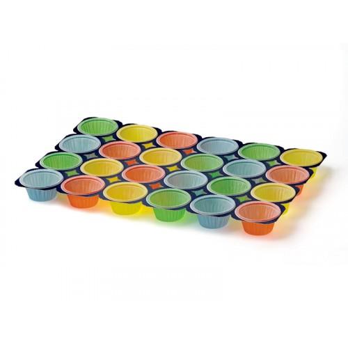 Форма для маффина групповая цветная, d50хh40 х24шт