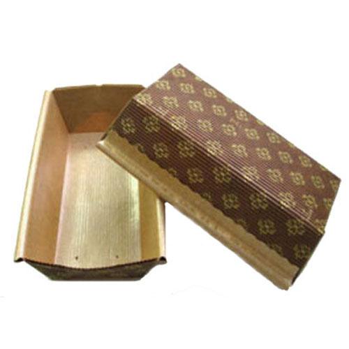 Плюмкейк коричневый (прямоугольная форма (гофрированная бумага), 165х65х50